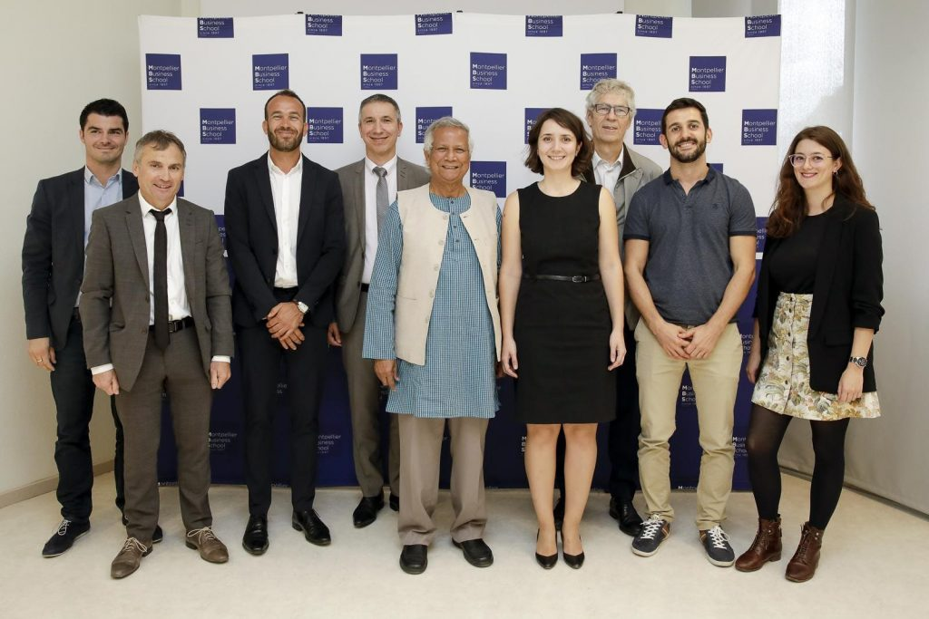Inauguration of a Yunus Center for Social Business & Inclusion at Montpellier Business School