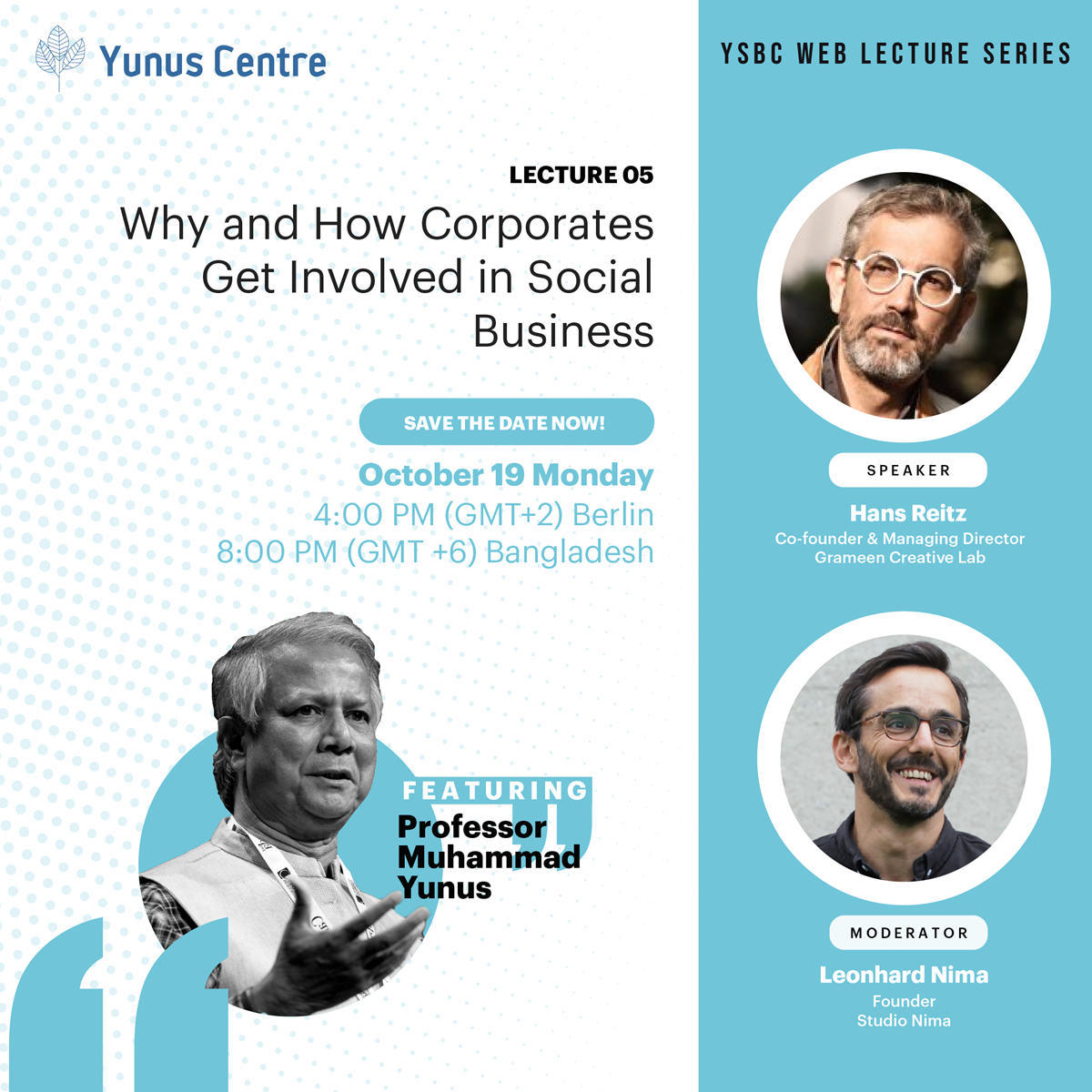 YSBC Web Lecture Series - Lecture 05 : Why and How Corporates Get Involved in Social Business.
