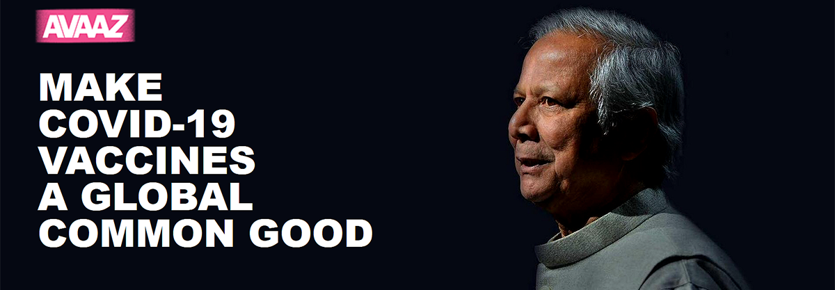 Nearly One Million Reached : Yunus' petition reaches close to one million signatures, urging global leaders to put people ahead pharma patents