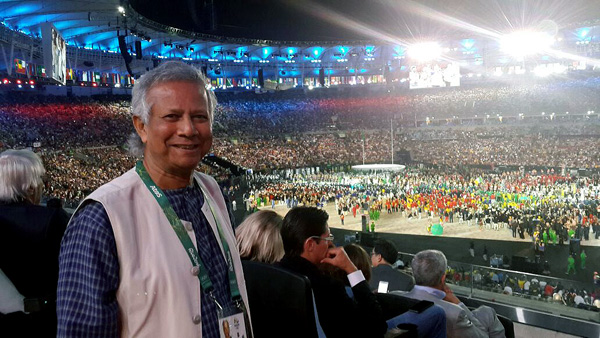 Professor Yunus Attends Rio Olympics 2016 Opening Ceremony as Official Guest