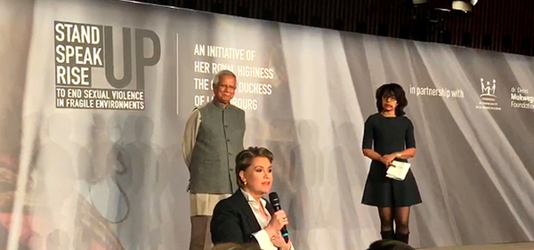 Yunus joins HRH Grand Duchess of Luxembourg in a fight to end sexual violence
