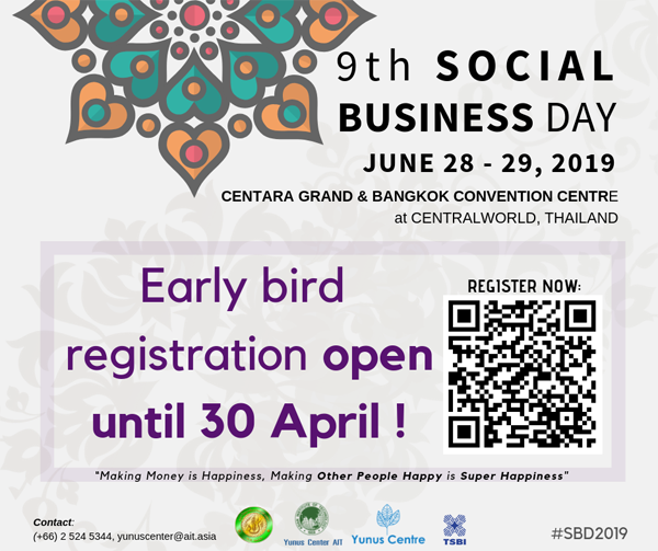 SBD2019 : EARLY BIRD DISCOUNT ENDS ON 30 APRIL 2019